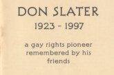 Don Slater: A Gay Rights Pioneer Remembered by his Friends