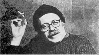 Joseph Hansen with cigarette