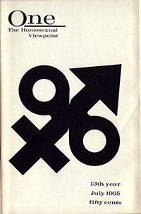 ONE: The Homosexual Viewpoint, July 1965