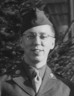 Chuck Rowland in the Army