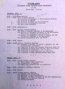 1953 Meeting Agenda